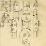 Sketchbook Page Column Faces