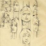 Sketchbook Page Column Faces