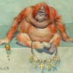 Gorilla with chain